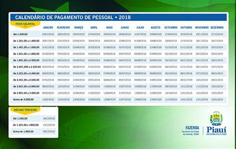governo do estado divulga tabela de pagamento de 2017 governo do estado divulga tabela de pagamento de 2018