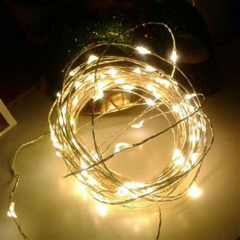 8 Colors 10m Silver Copper Wire Led String Light Fairy Starry String Lights Lights On Silver Wire