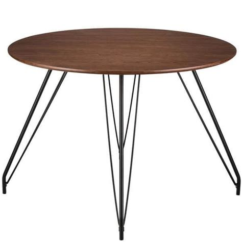 walnut wood pin leg large dining table modern furniture