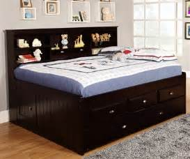 espresso size bookcase captain s day bed with trundle