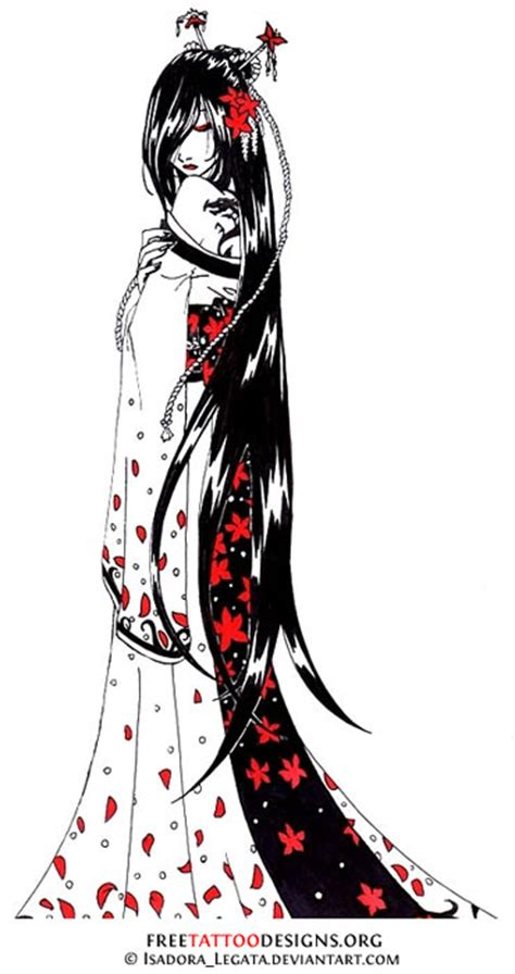 traditional geisha tattoo flash geisha tattoos