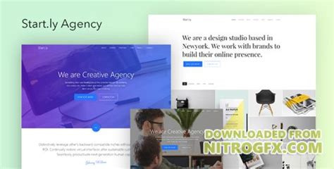 The Agency V1 4 Creative One Page Agency Theme themeforest start ly v1 0 agency one page parallax website template 20386184 187 nitrogfx