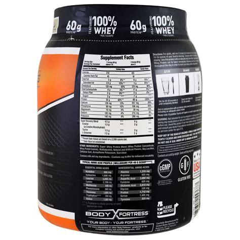 Whey Protein 2 Lbs fortress advanced whey protein powder vanilla 2 lbs 907 g iherb