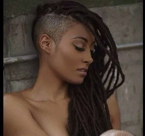 dread lock with side blend haircut locs with shaved side beautiful dreadlocs locs