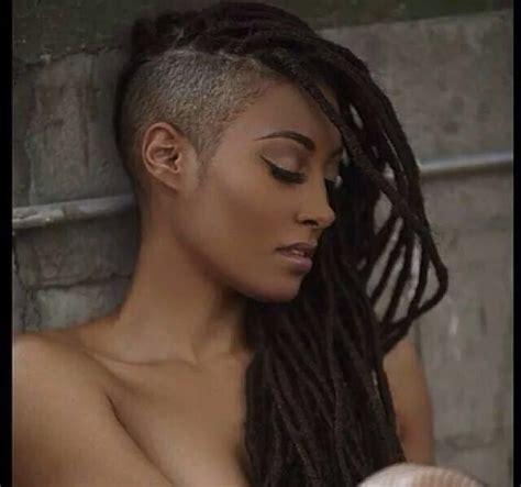 54 best hair tricks images on pinterest braids hair cut locs with shaved side beautiful dreadlocs locs