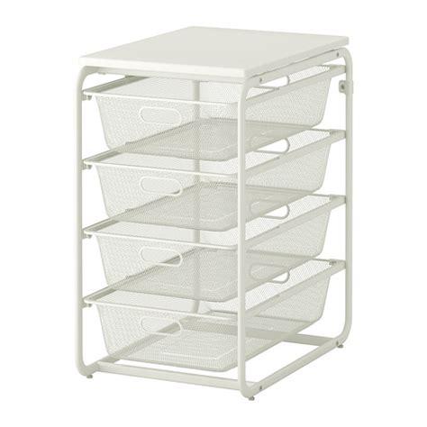 algot frame with 4 mesh baskets top shelf ikea