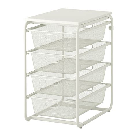Ikea Shelf Basket algot frame with 4 mesh baskets top shelf ikea