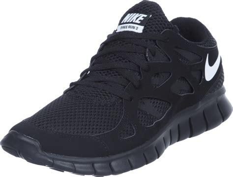nike  run  shoes black white
