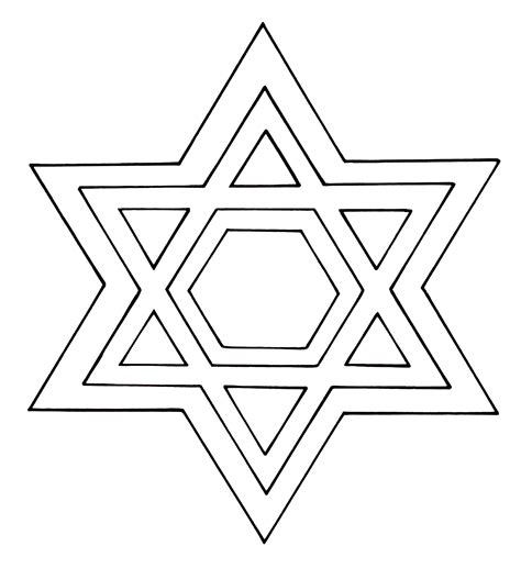 printable star template david david star holocaust coloring pages
