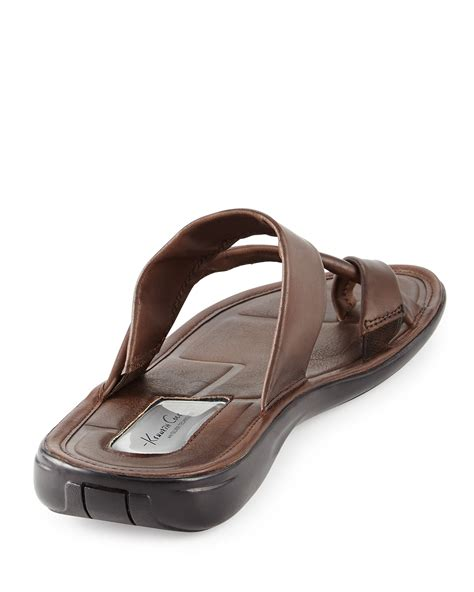 sandal for kenneth cole stretch the sandal in brown for lyst