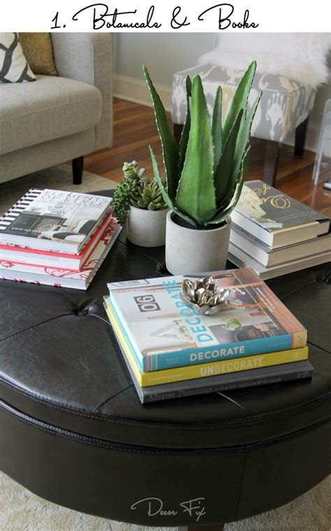 how to decorate a round coffee table how to style a round coffee table decor fix