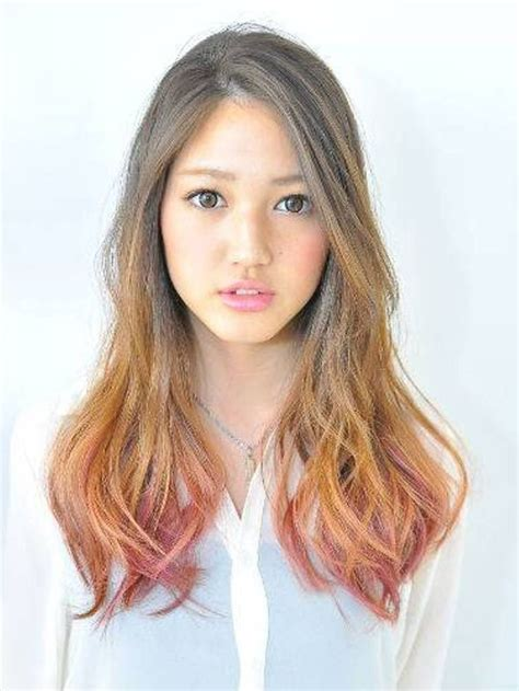color rambut korea ombre long japanese hairstyles celebrity plastic surgery