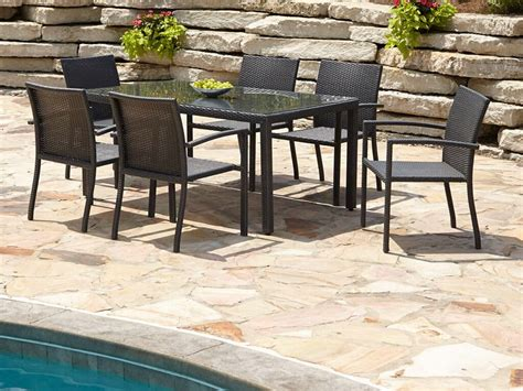 Black Wicker Resin Garden Furniture Sets Patio Outdoor Outdoor Dining Patio Furniture