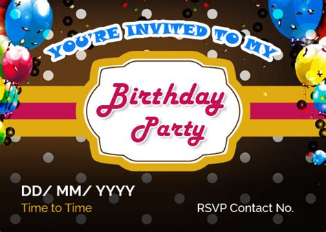 birthday invitation template word 2003 birthday invitation cards for ms word word excel templates