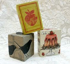 Decoupage Photos On Wood Blocks - 1000 images about crafts modge podge on