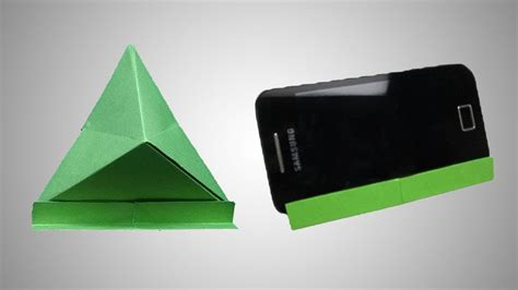 Origami Phone Stand - how to make a paper mobile phone stand origami mobile