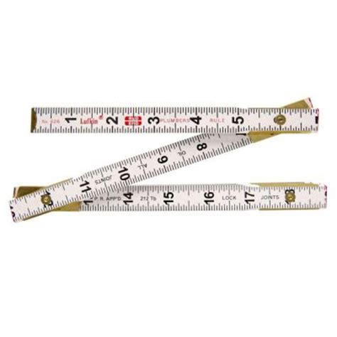 lufkin 6 ft x 5 8 in plumbers wood ruler 626ln the