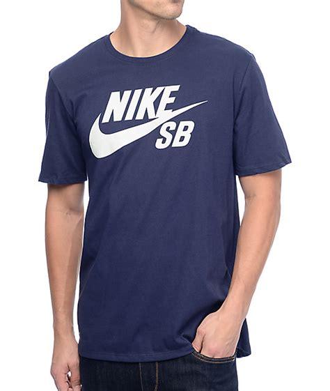 T Shirt Navy 6 0 Nike nike sb dri fit logo sb navy t shirt zumiez
