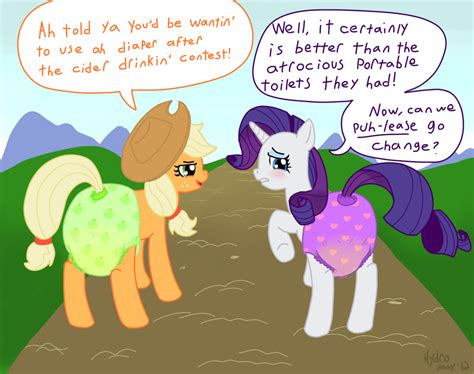 diaper pony pee after the cider drinking contest by hydroftt fur
