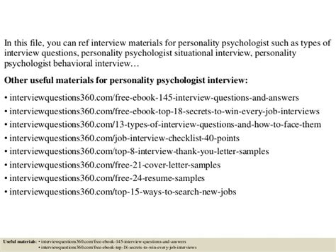 personality questions for interviews top 10 personality psychologist questions and