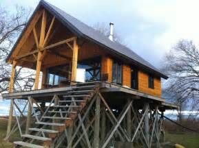 Telephone Pole Log Cabin by Advice On Foundation For A Cabin On Stilts