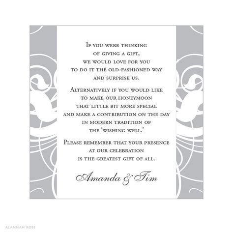 Gift Registry Wording For Wedding   Wedding Planner: The