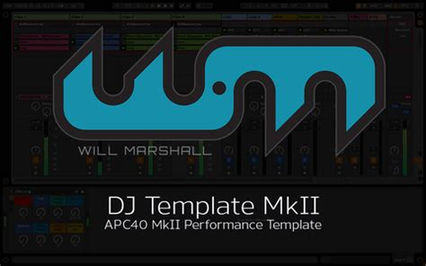 will marshall me ableton templates tutorials and tunes