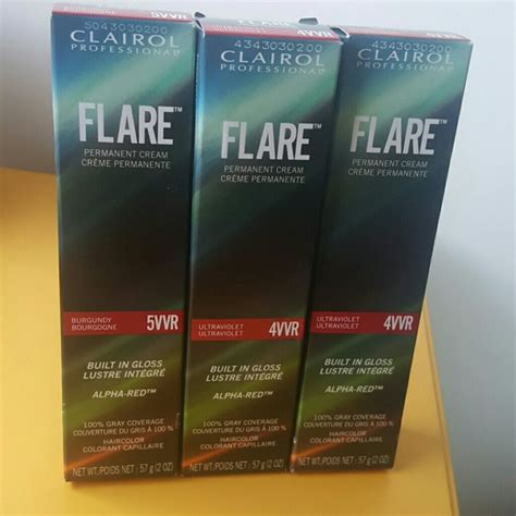 clairol flare hair color clairol flare alpha red permanent hair color permanent