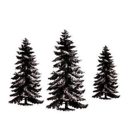 pine tree rubber st pine tree set 3 unmounted rubber sts