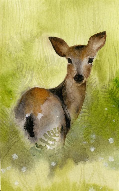 watercolor deer tutorial 17 best watercolor deer images on pinterest water colors