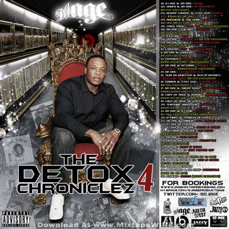 Dr Dre Detox Tracklist 2011 by Dr Dre The Detox Chroniclez Vol 4 Mixtape By Dj Age