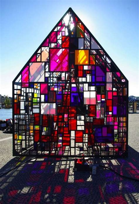 stained glass architecture tom fruin kolonihavehus