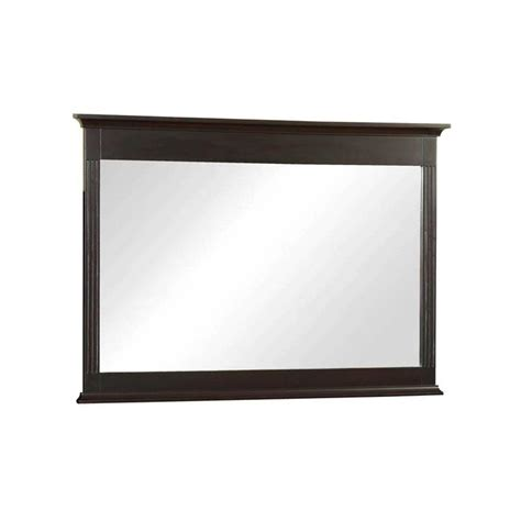 Home Depot Vanity Mirrors by 32 In L X 46 In W Framed Wall Mirror In Espresso H0830m