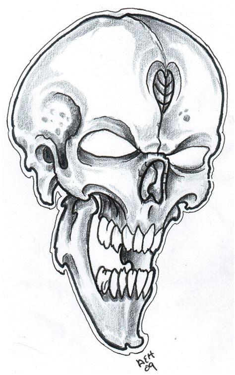 skull sketch 09 by vikingtattoo on deviantart