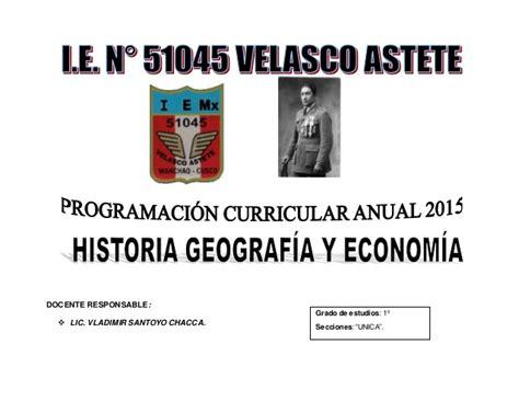 texto de historia y geografia con rutas de aprendizaje 2015 programaci 243 n anual 2015 historia geografia y economia con