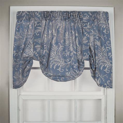 Tie Up Valances Floating Leaves Tie Up Valance Window Treatments Lined