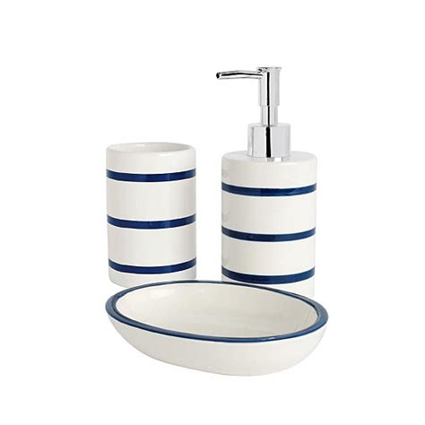 navy bathroom accessories bathroom range navy stripe bathroom accessories asda