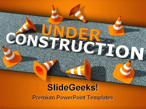 ppt templates free download construction under construction transportation powerpoint template 0610