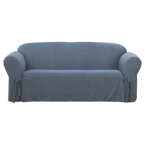 target slipcovers for sofa sure fit sofa slipcover denim indigo target
