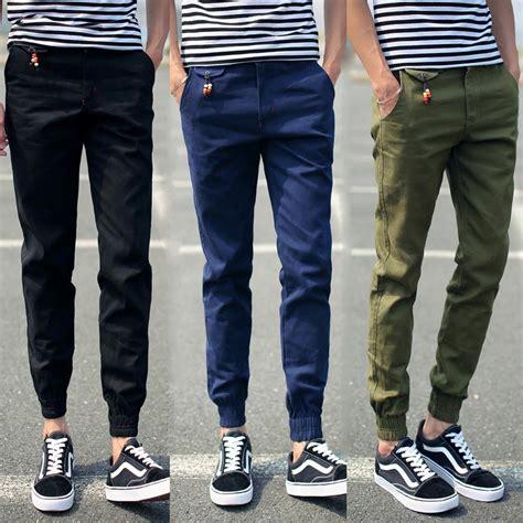 Celana Panjang Jogger Joger Sweatpants Freecyl Navy new 2015 mens joggers slim fit zipper pencil sweatpantsmen sports fashion shark