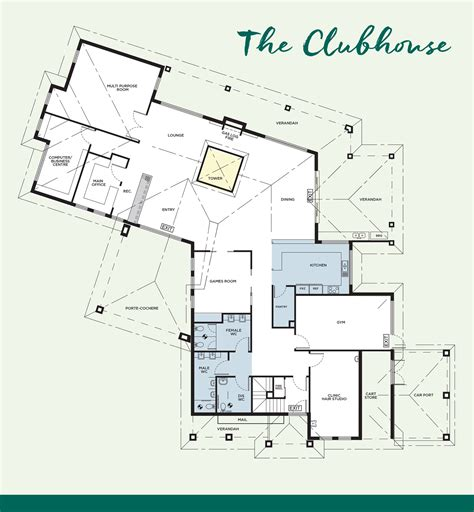 layout plan for house the clubhouse peninsula lifestyle retirement village
