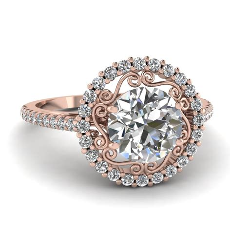 rose gold engagement rings fascinating diamonds