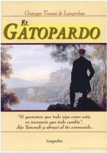 libro el gatopardo el gatopardo giuseppe tomasi di ledusa leemos