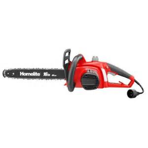 chainsaw home depot homelite 16 in 12 electric chainsaw ut43122b the