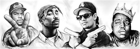 the musical artistry of rap books biggie with rap drawing poster painting by wang