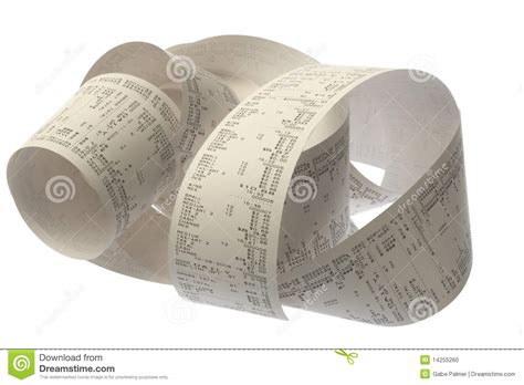 roll of roll of register stock photo image 14255260