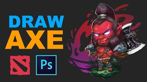Chibi Dota 1 how to draw axe chibi dota 2 speedpaint by bmsolari