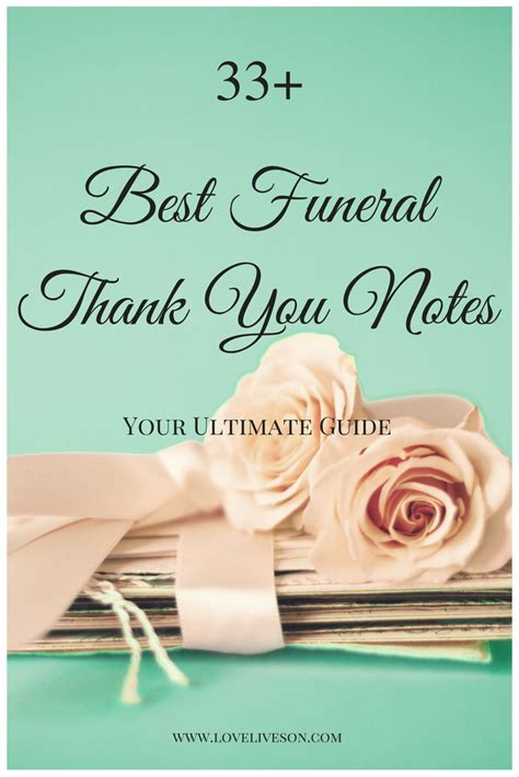 Thank You Cards For Funeral Money