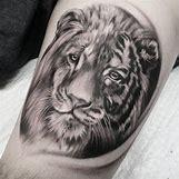 Half Lion Half Tiger Art | 595 x 594 jpeg 56kB