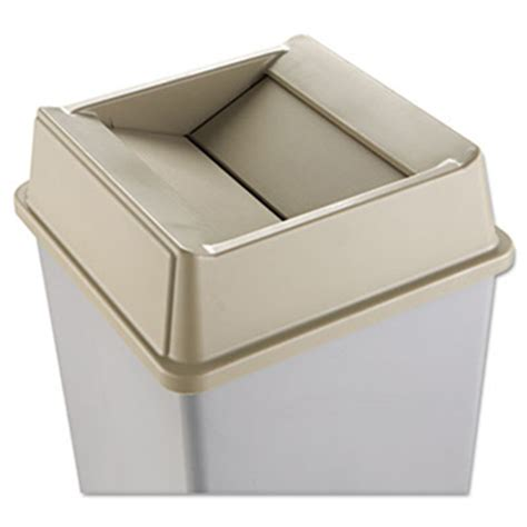 square swing rubbermaid commercial untouchable square swing top lid